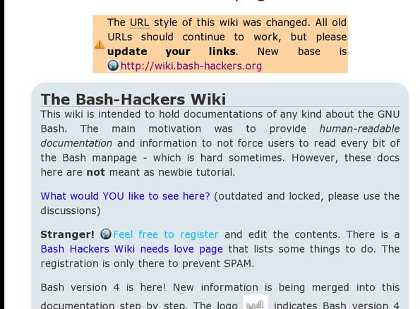 Bash Hackers wiki