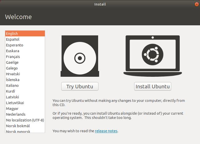 Ubuntu 安装欢迎屏幕