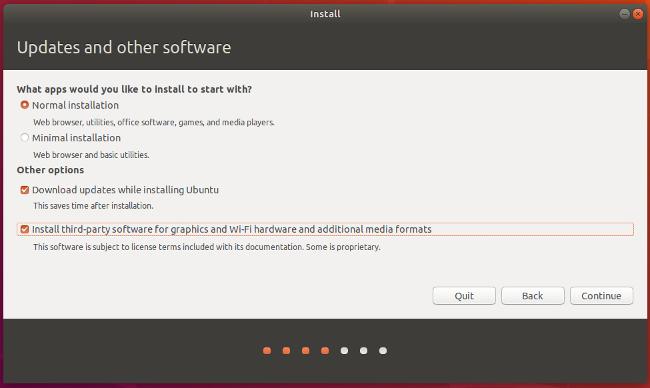 选择 Ubuntu 安装选项