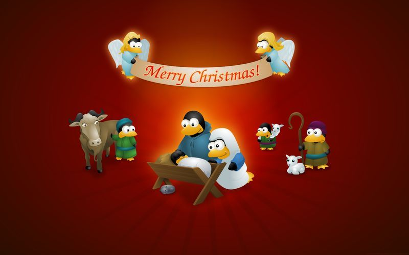 Christmas Linux Wallpapers