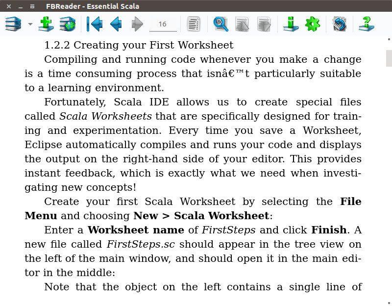FBReader: Linux 电子书阅读器