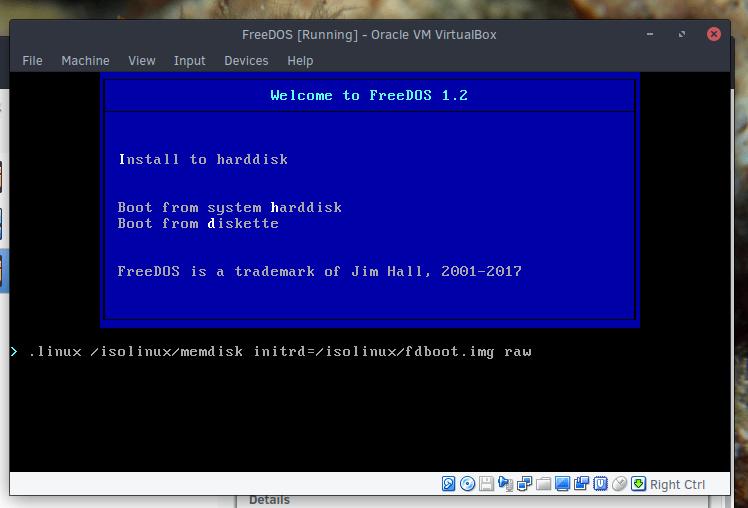 技术|如何在VirtualBox 上安装并使用FreeDOS?