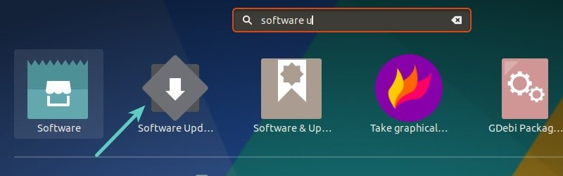 在 Ubuntu 中运行 Software Updater