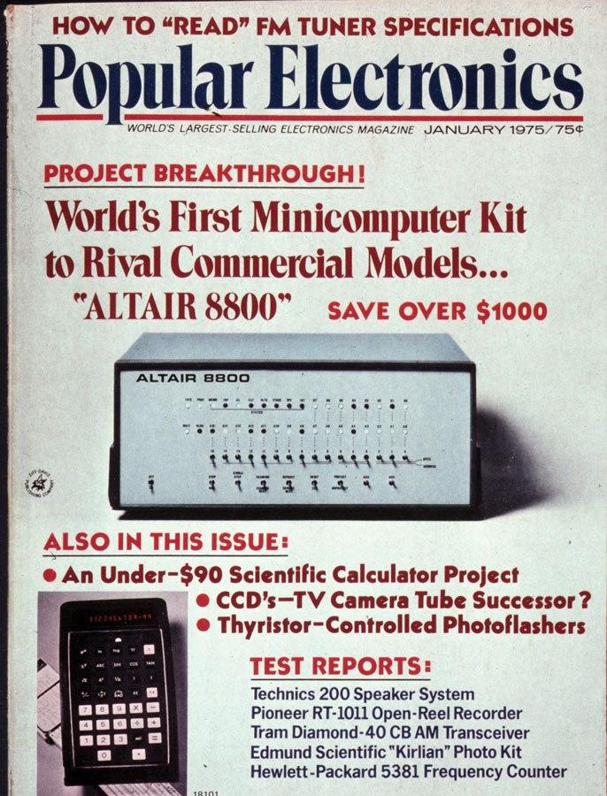 《大众电子》1975 年 1 月刊的封面