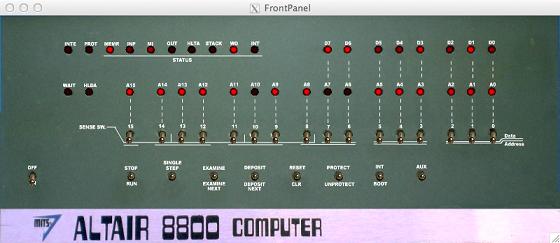 模拟器中的 Altair 面板