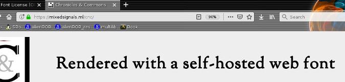 在线字体的实际效果