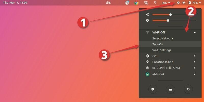 Restarting network in Ubuntu