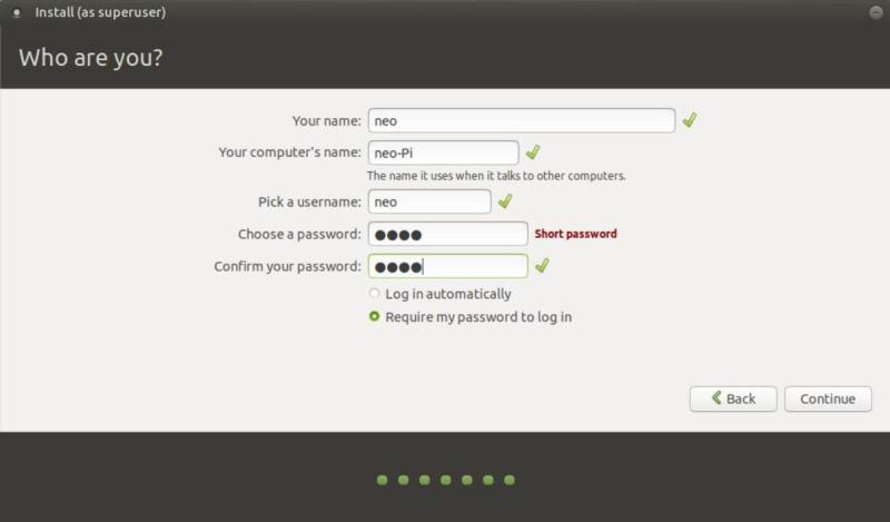 添加用户名和密码