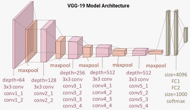 VGG-19 模型架构