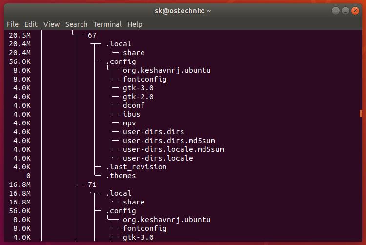 用树状结构可视化硬盘使用情况