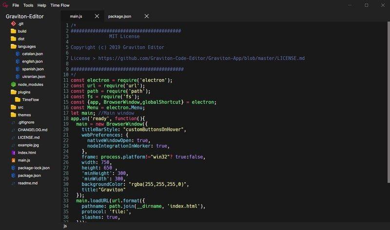 Graviton Code Editor