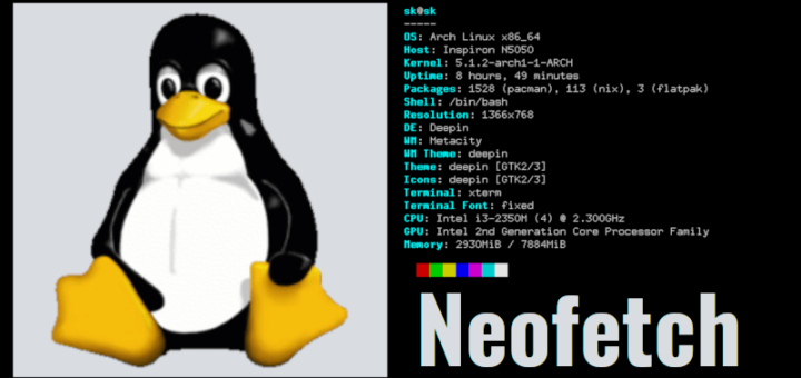 Display Linux system information using Neofetch