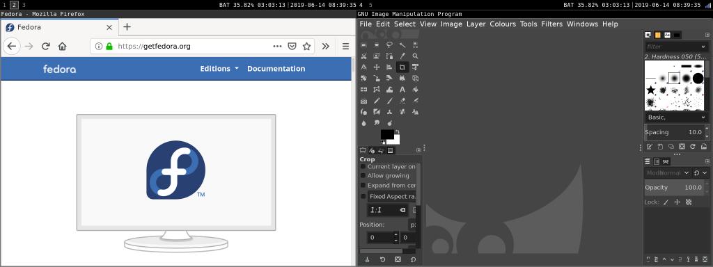 打开火狐浏览器的工作空间 2 在左侧