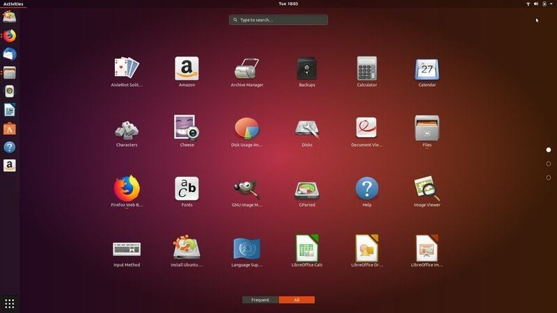 GNOME desktop customized by Ubuntu