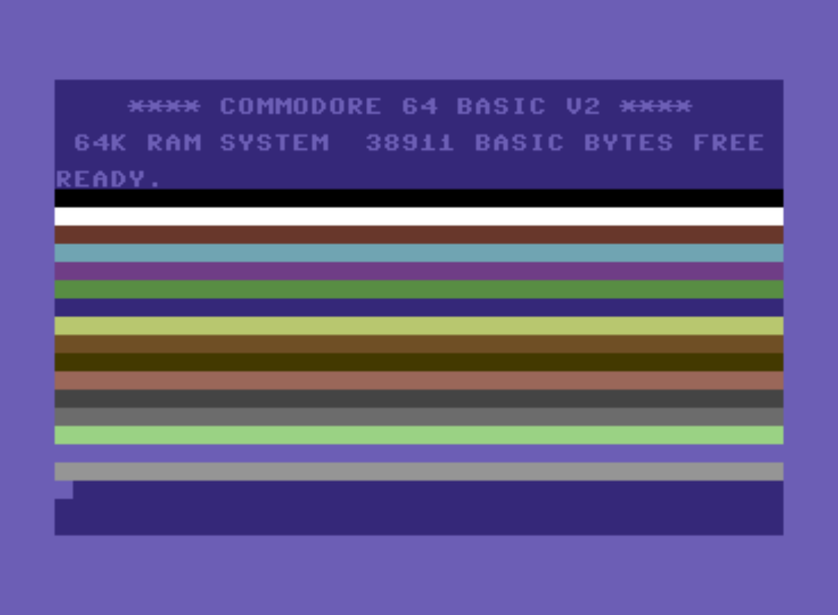 Commodore 64 颜色带