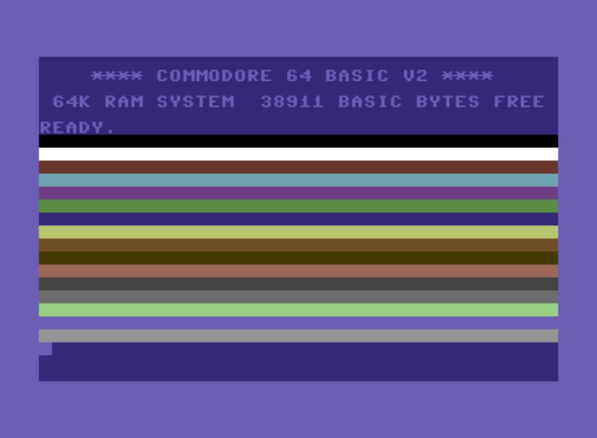 Commodore 64 颜色带