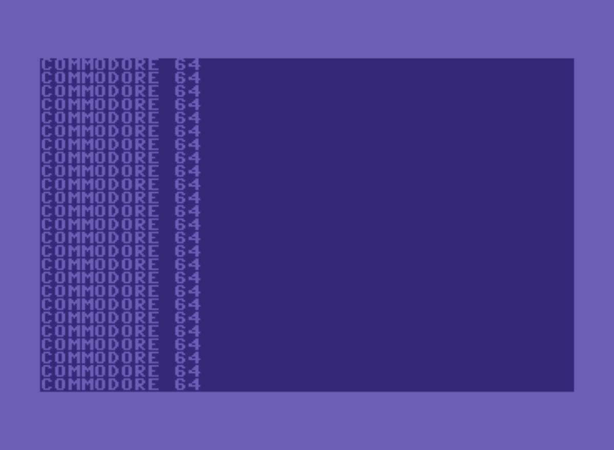 """Commodore 64 显示反复打印 """"Commodore 64"""" 的结果"""