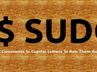 用大写字母输入 Linux 命令以将其作为 sudo 用户运行