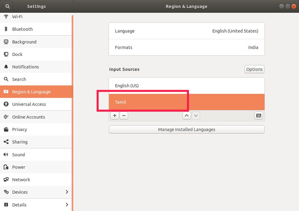 Ubuntu 里的输入来源选项