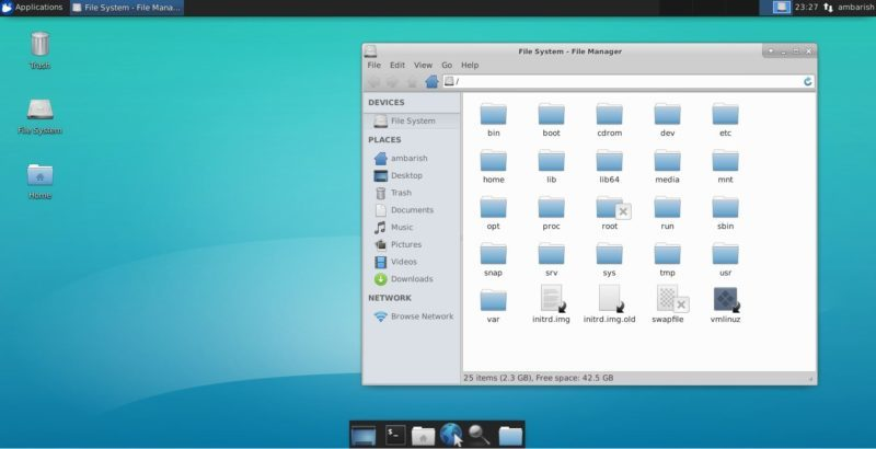 Xfce default screen