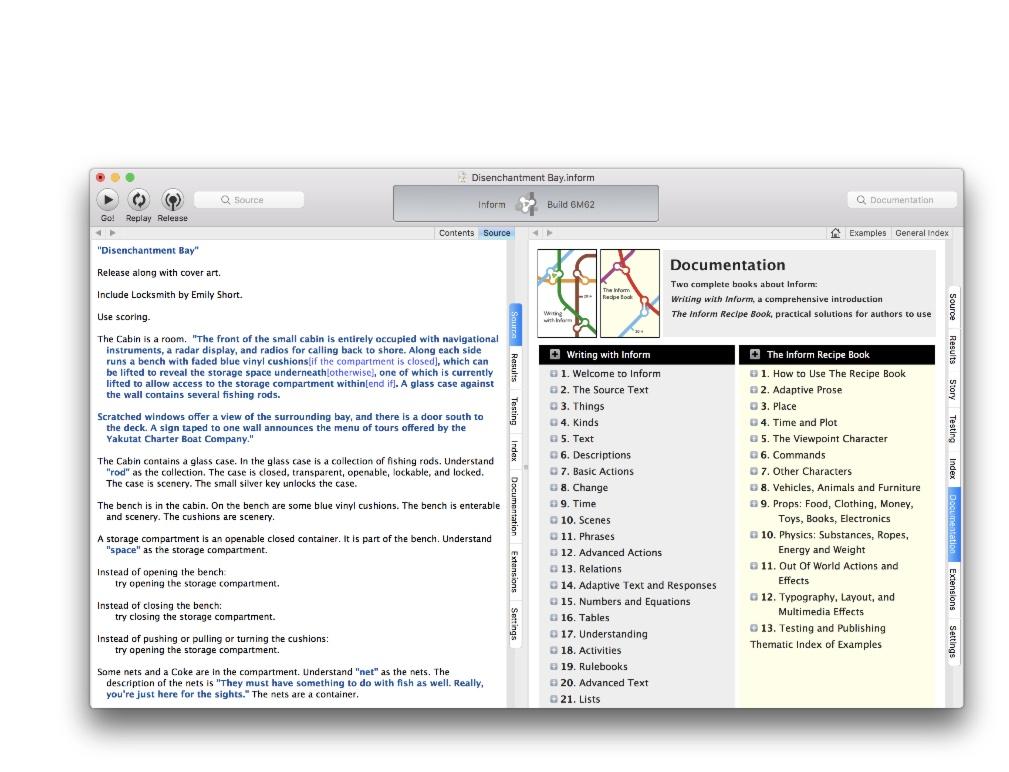 inform 7 集成式开发环境截图