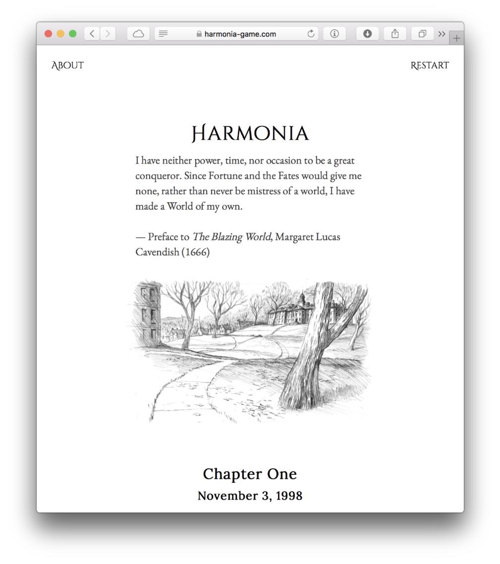 Harmonia 开场截图