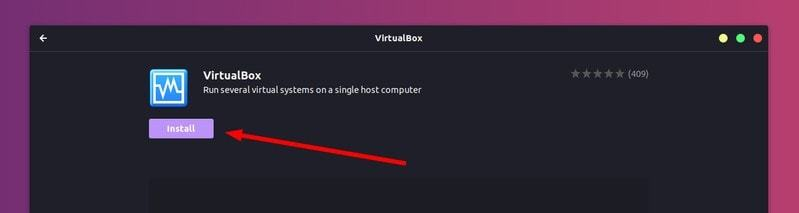 VirtualBox in Ubuntu Software Center