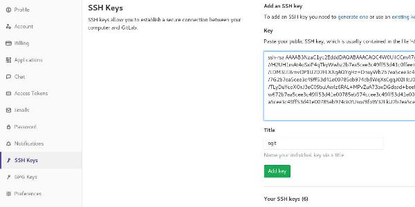 Adding key file data to GitLab