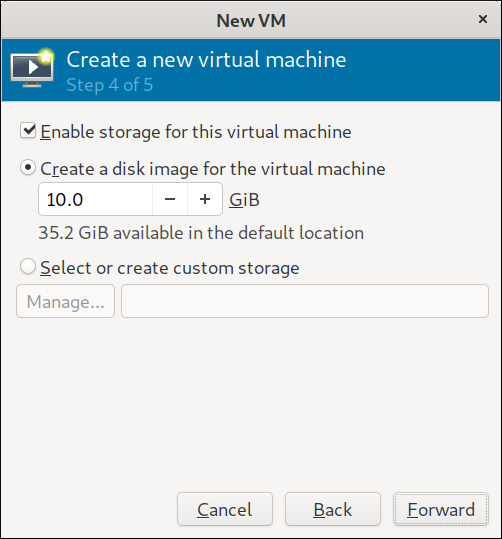 Step 4 Configure VM Storage