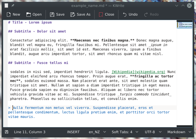 Blockquote text in Markdown