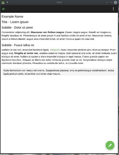 Turtl application