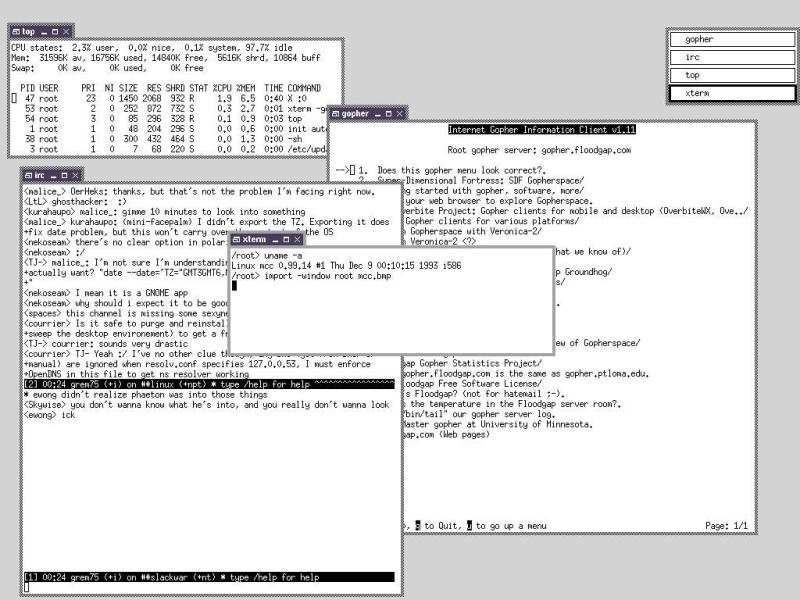 MCC Linux 0.99.14, 1993 | Image Credit