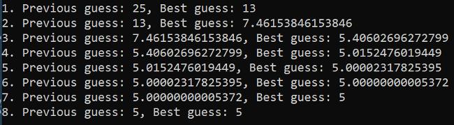 25 平方根的迭代编码