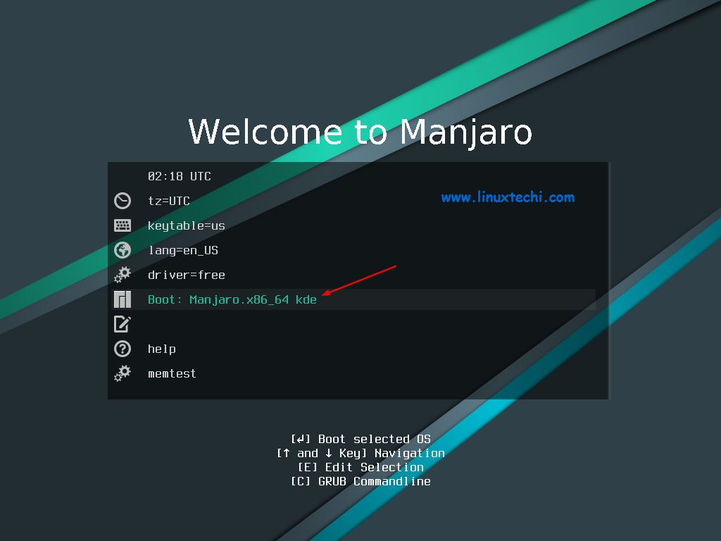Boot-Manjaro-18-1-kde-installation