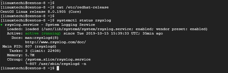 rsyslog-service-status-centos8