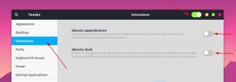 管理 GNOME 扩展