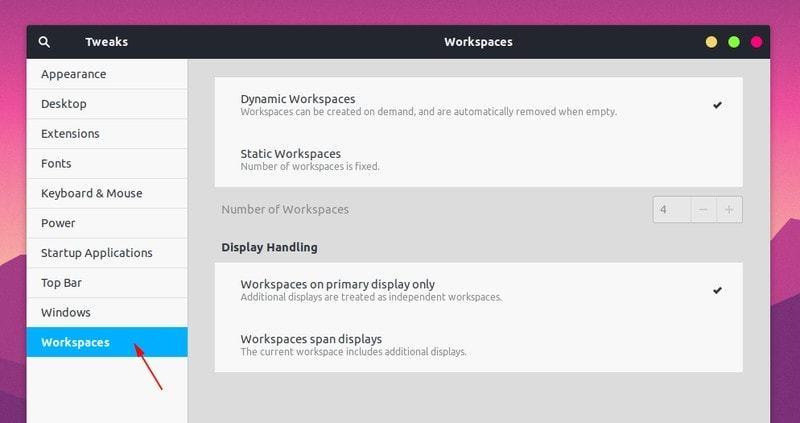 在 Ubuntu 中配置工作区