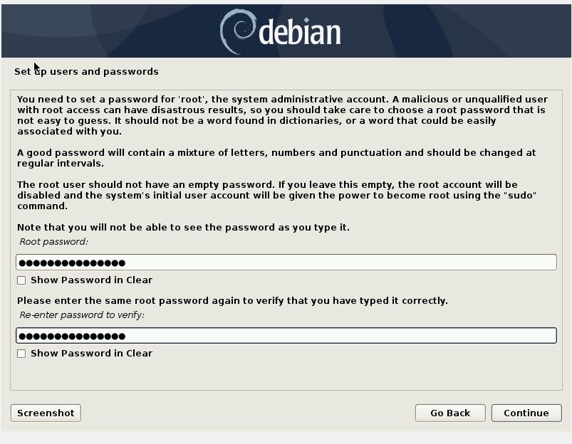 设置 root 密码-Debian10