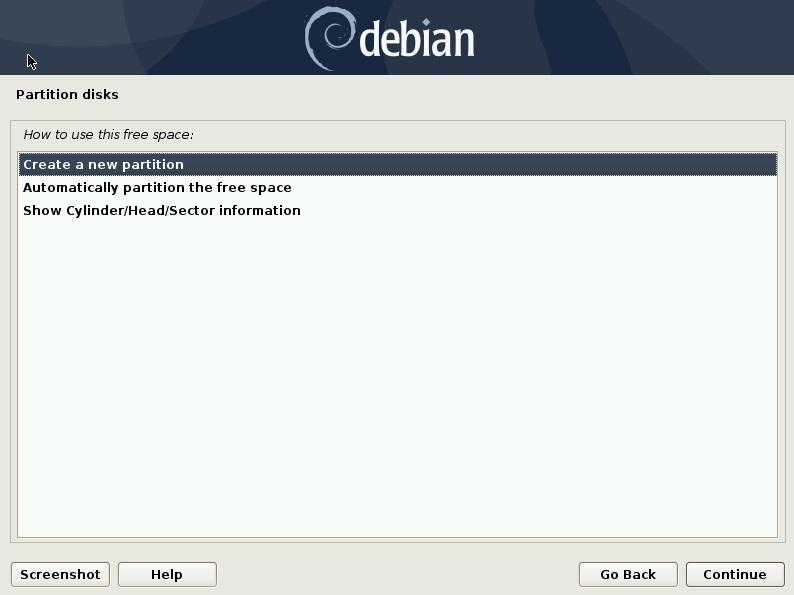 创建新分区-Debain10