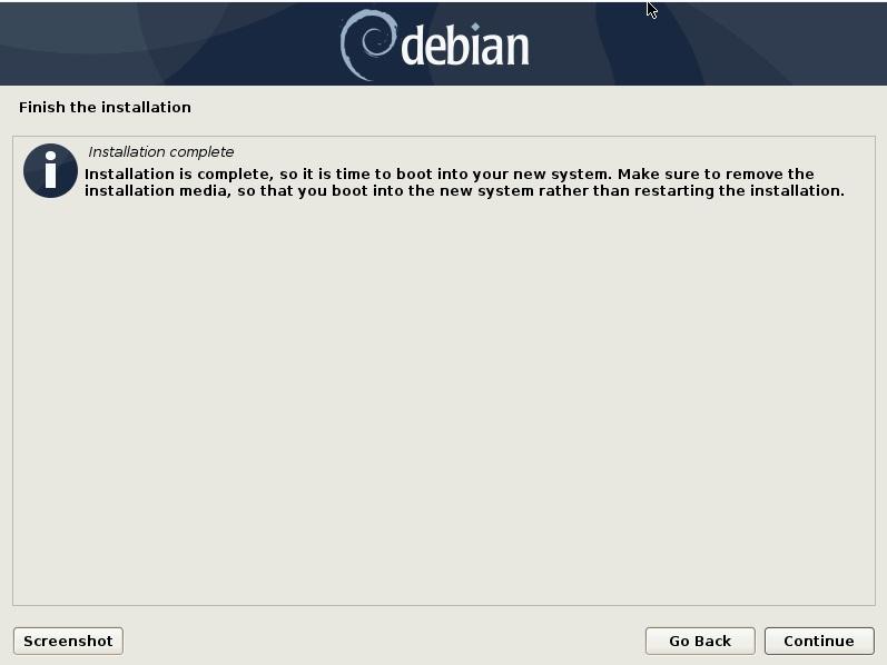 安装完成-重新启动-debian10