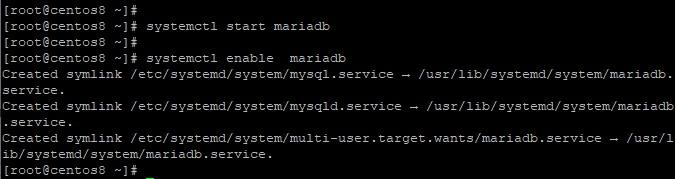 Start-enable-MariaDB-CentOS8