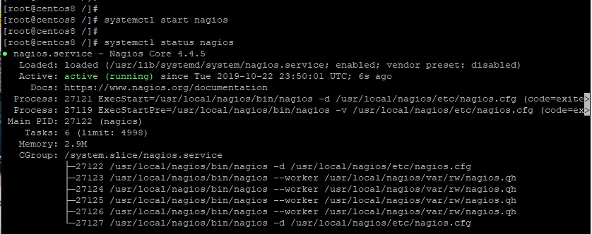 Start-check-status-Nagios-CentOS8