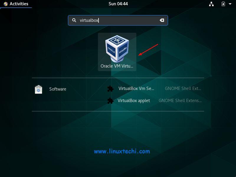 Access-VirtualBox-CentOS8