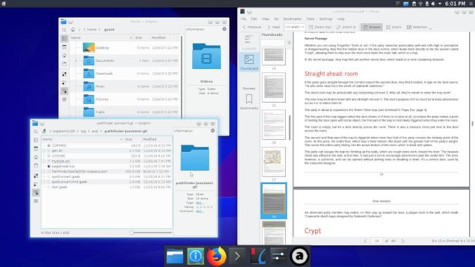 A slightly customized KDE desktop