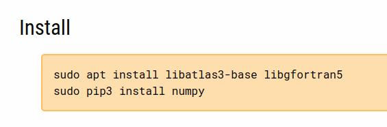numpy dependencies