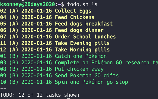 Getting fancy with Todo.txt