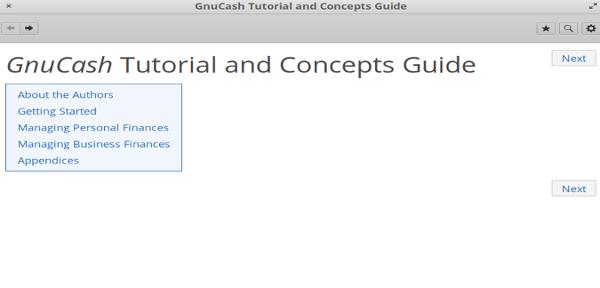 GnuCash help
