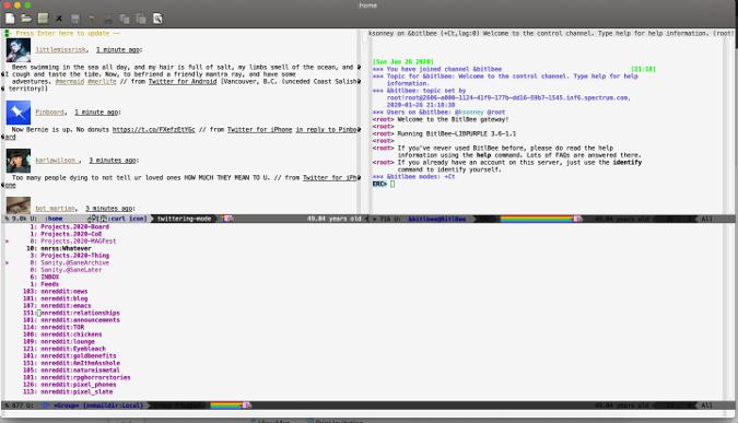在 Emacs 中处理所有事情