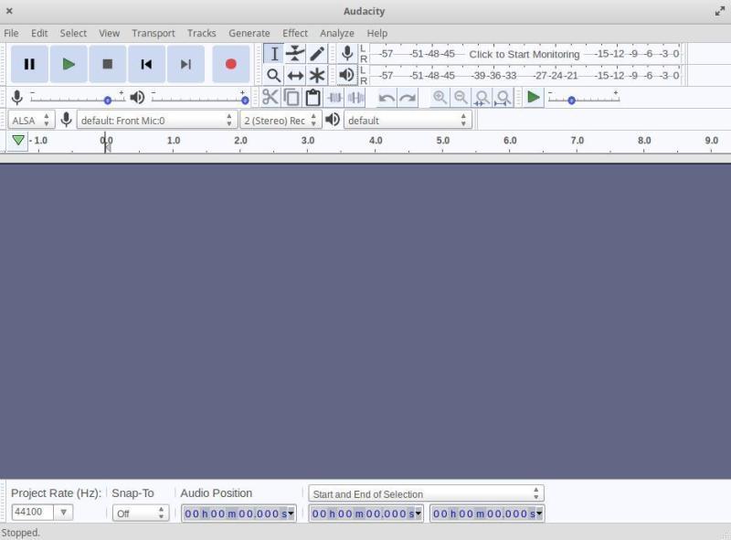 Audacity audio editor
