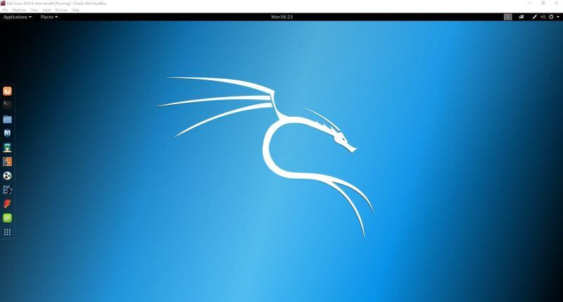 Kali Linux 运行在 VirtualBox 中